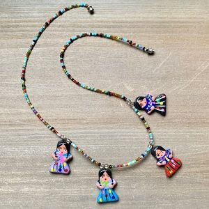 Beaded vintage handmade necklace